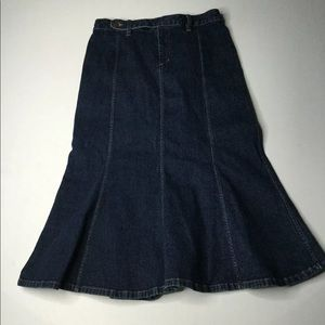 Vintage Ralph Lauren Jeans Denim Trumpet Skirt